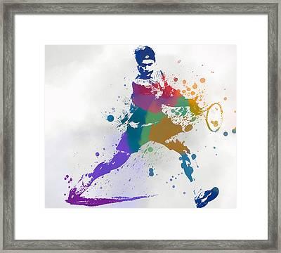 Federer Paint Splatter Framed Print