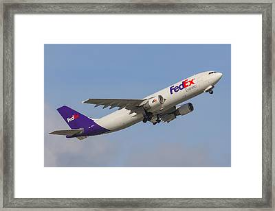 Fedex Airplane Framed Print