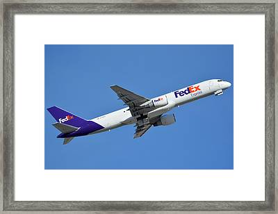 Fedex Express Boeing 757-230 N998fd Phoenix Sky Harbor January 19 2016  Framed Print by Brian Lockett