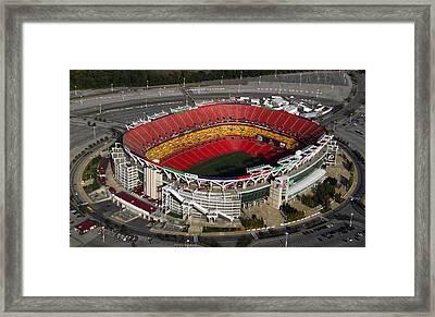 Fedex Field Redskins Stadium Framed Print by Steve Monell