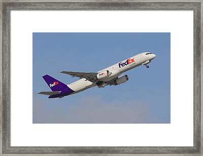 Fedex Jet Framed Print