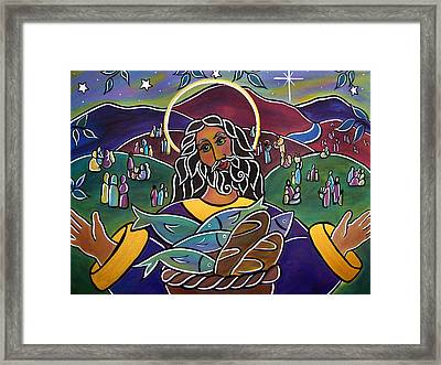 Feed My Sheep Framed Print by Jan Oliver-Schultz