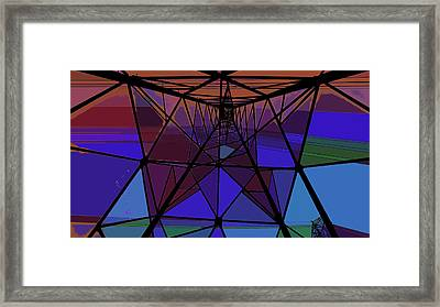 Feed To A Power Line Of Color Framed Print