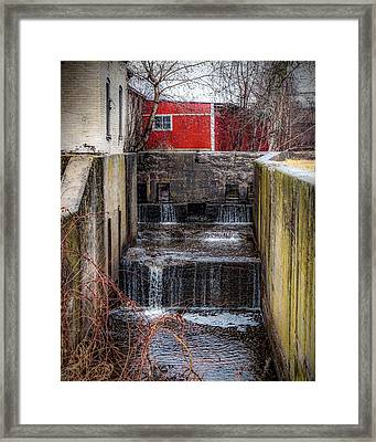 Framed Print featuring the photograph Feeder Canal Lock 13 by Kendall McKernon