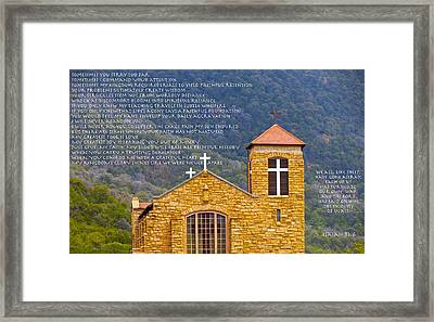 Feeding Faith Framed Print by David  Norman