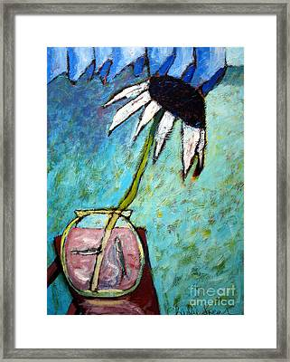 Feeding Freiends Framed Print