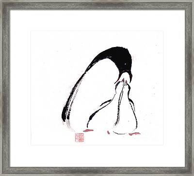 Feeding Framed Print by Mui-Joo Wee