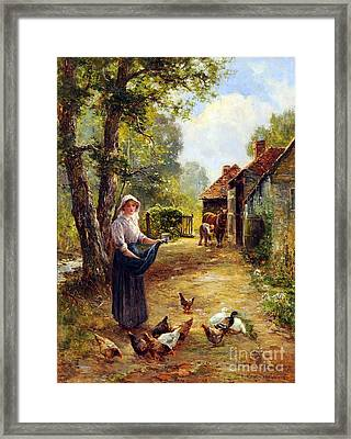 Feeding The Fowl Framed Print by Celestial Images