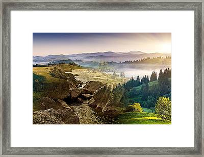 Feeding The Waterfall Montage Framed Print