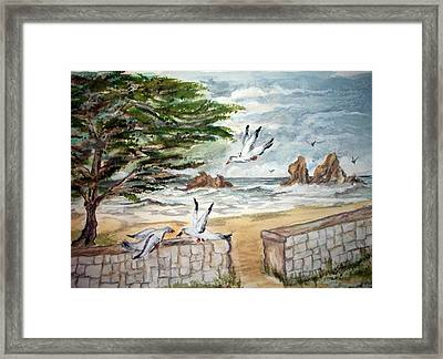 Framed Print featuring the painting Feeding Time by Carol Grimes