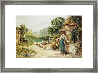 Feeding Time Framed Print by Ernest Walbourn