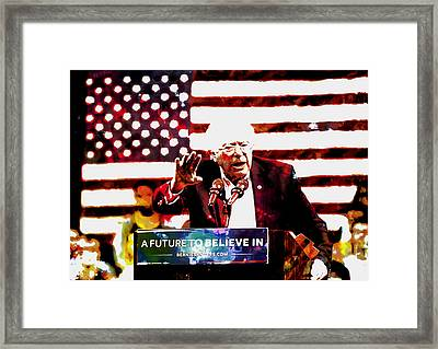 Feel The Bern 2 Framed Print by Brian Reaves