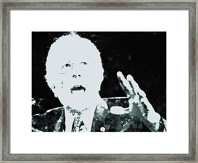 Feel The Bern Framed Print by Brian Reaves