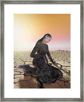 Feel The Burn Framed Print by Shinji K