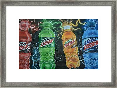 Feel The Dew Framed Print