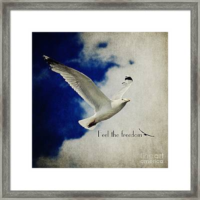 Feel The Freedom Framed Print by Angela Doelling AD DESIGN Photo and PhotoArt