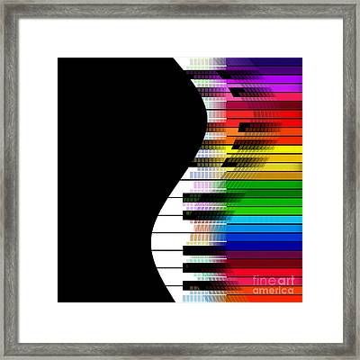 Feel The Music Framed Print by Klara Acel