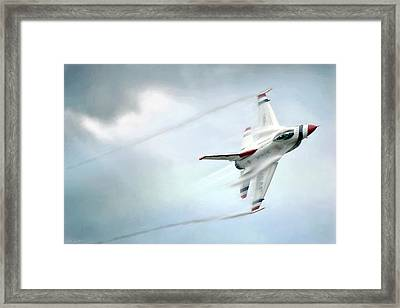 Feel The Thunder Framed Print by Peter Chilelli