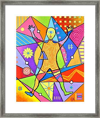 Feel The Vibes Framed Print
