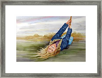 Feelin The Wind Framed Print