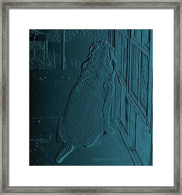 Feeling Blue Framed Print by DigiArt Diaries by Vicky B Fuller
