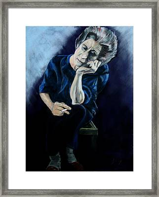 Feeling Blue. Framed Print by John Cox