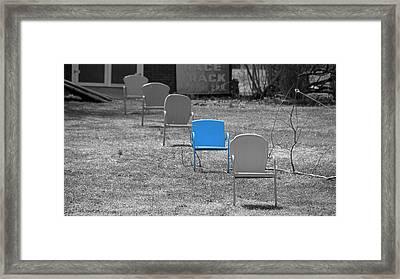 Feeling Blue Framed Print
