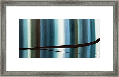 Framed Print featuring the painting Feeling Engaged by Carmen Guedez