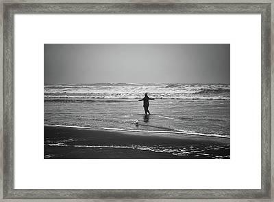 Feeling Her Joy Framed Print