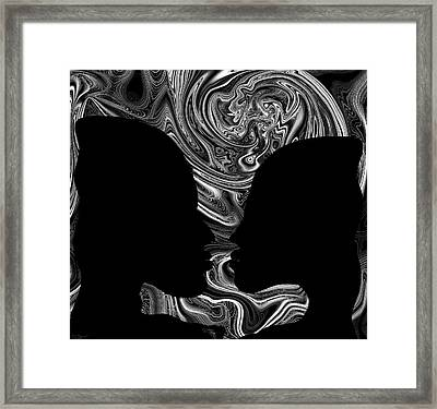 Feeling Incomplete Without You Framed Print by Abstract Angel Artist Stephen K
