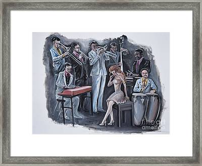 Feeling The Music Framed Print by Toni  Thorne