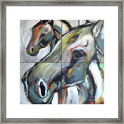 Framed Print featuring the painting Feeling Thunder by Cher Devereaux