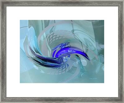 Feeling Tiffany Blue Framed Print by Donna Blackhall