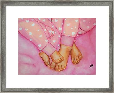 Feet Fete Framed Print by Joni McPherson