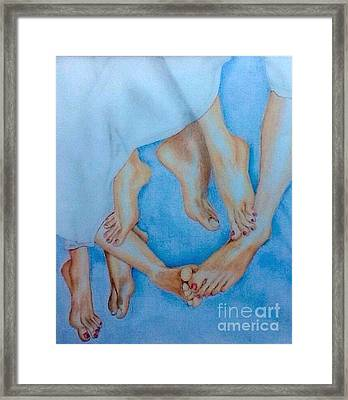 Naughty Feet Framed Print