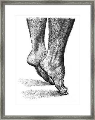Feet Framed Print by Guillermo Contreras