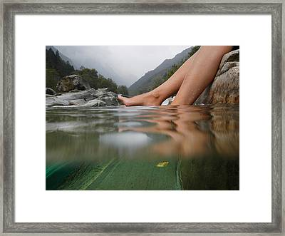 Feet On The Water Framed Print