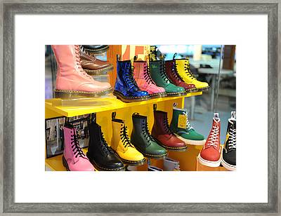 Feet Quote 23 Framed Print by Jessica Rose