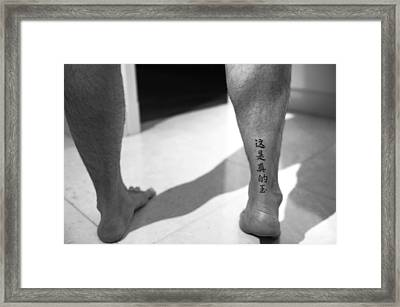 Feet Quotes 8 Framed Print by Jessica Rose