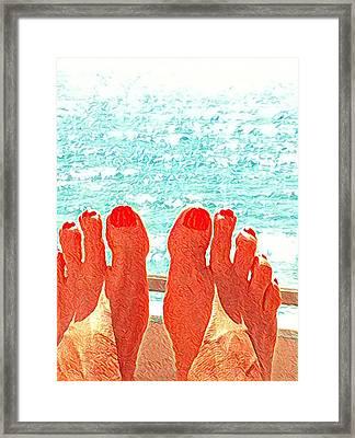 Feets Don't Fail Me Now Framed Print