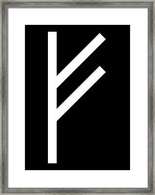 Fehu Rune Framed Print