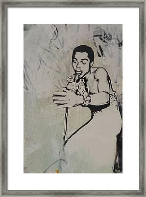 Fela Kuti Framed Print by Dustin Spagnola