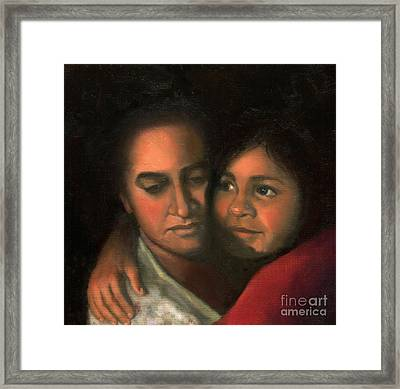 Felicia And Kira Framed Print by Marlene Book