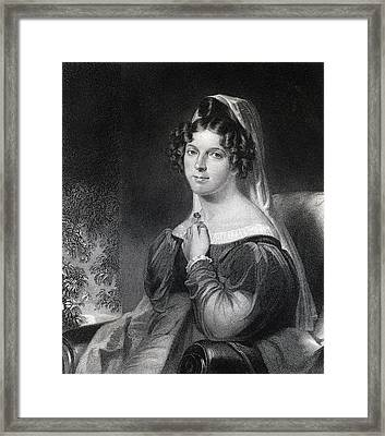 Felicia Dorothea Hemans 1793 To 1835 Framed Print by Vintage Design Pics