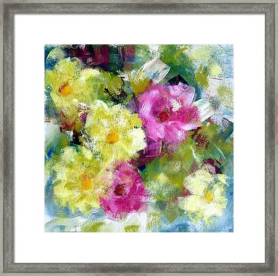 Framed Print featuring the painting Felicidades by Katie Black