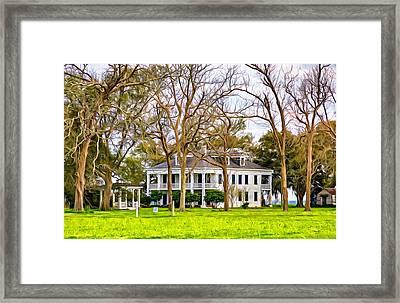 Felicity Plantation 5 - Paint Framed Print by Steve Harrington