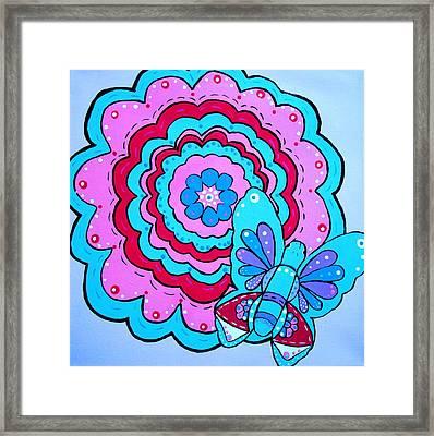 Felicity's Flower Framed Print