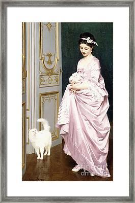 Feline Affection Framed Print by Joseph Caraud