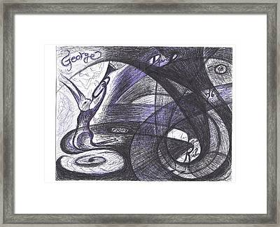 Feline Fanfare Sounds The Birthday Greeting Framed Print by Rich Graham