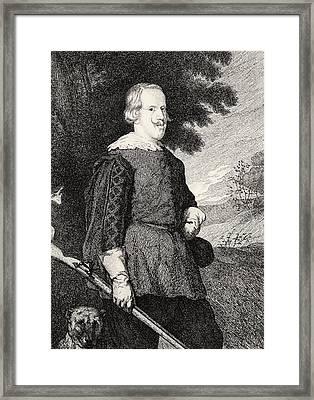 Felipe Iv King Of Spain In Hunting Framed Print